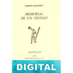 Memorial de un testigo Gastón Baquero